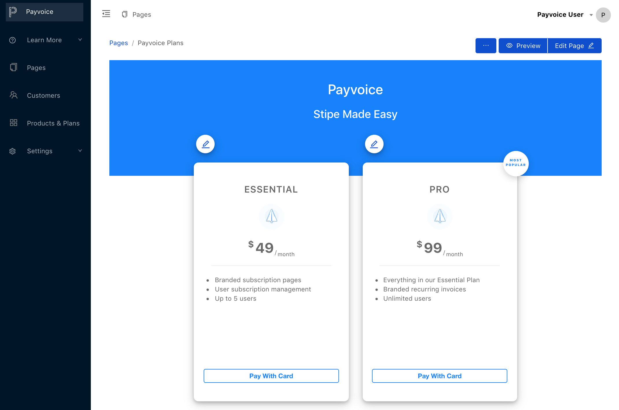Payvoice Subscription